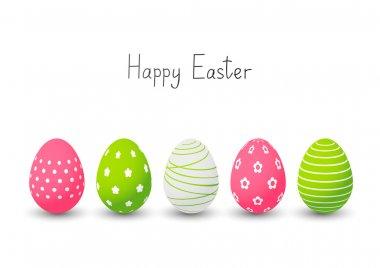 Easter eggs on white background stock vector