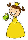 Photo Girl with frog