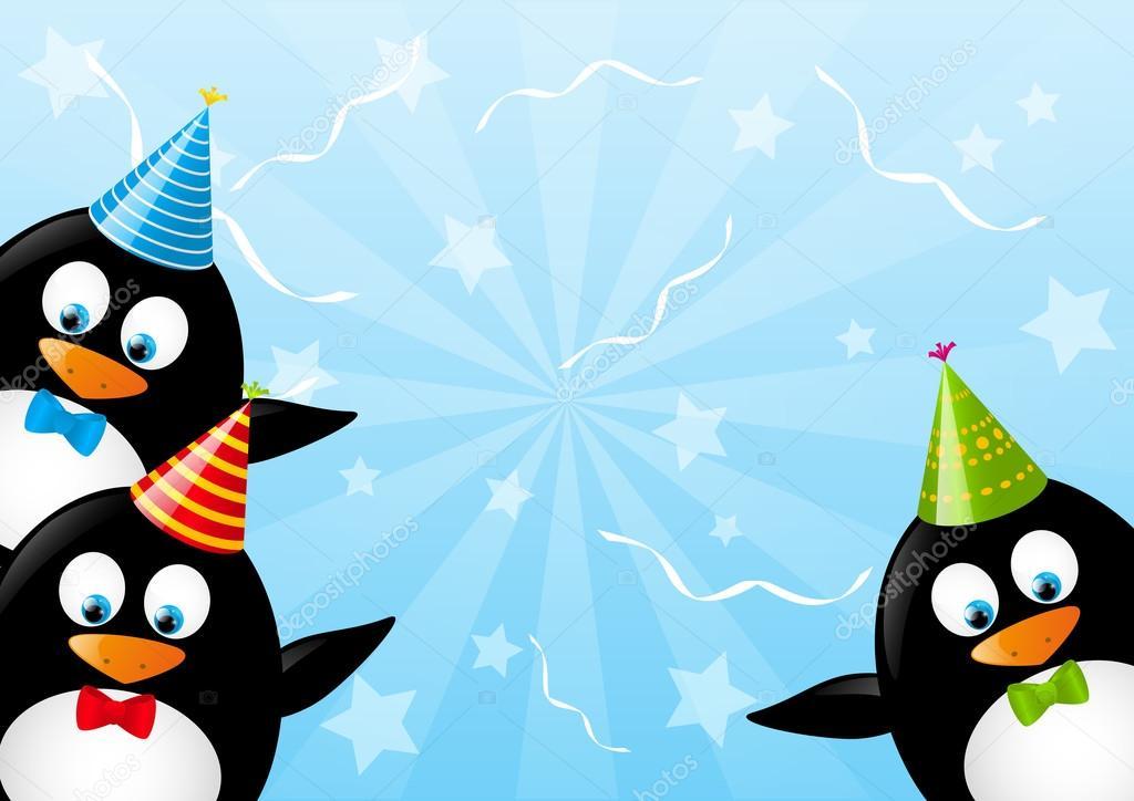 Открытки с днем рождения пингвины