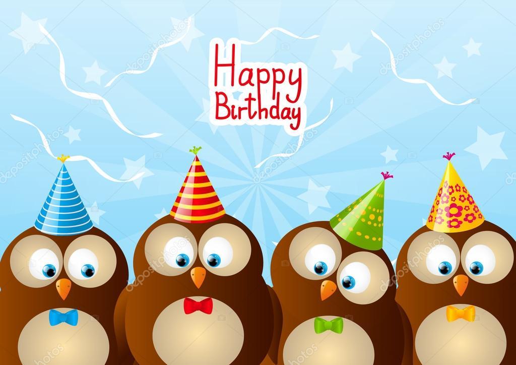 Открытки день, с днем рождения олеся открытка с совой