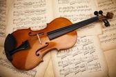 Fotografia vecchio sfondo di violino