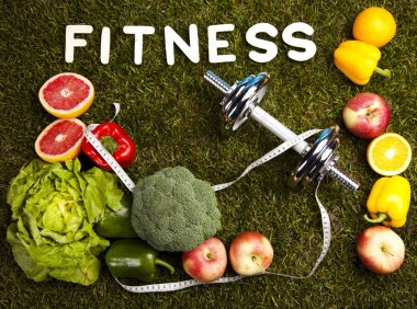 Fitness and vitamins stock vector