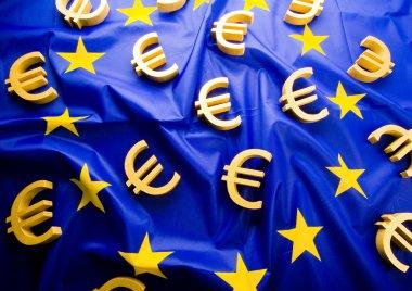 Flag of European Union with euro sign
