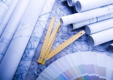 Blueprints stock vector