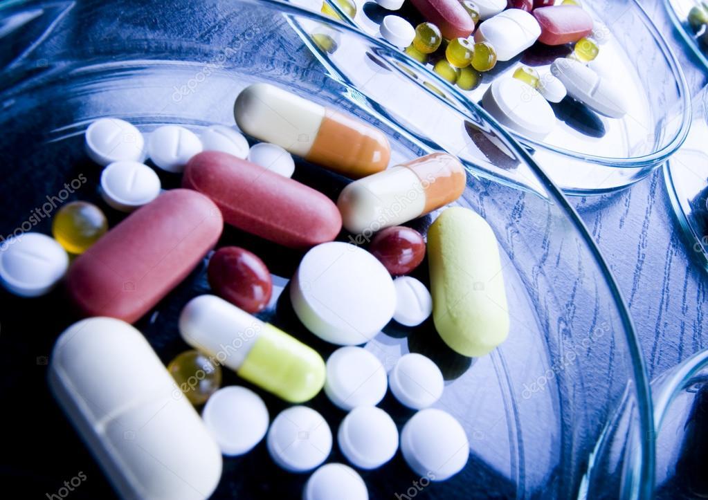 Drugs, medicines, tablets, pills — Stock Photo © JanPietruszka #30810561