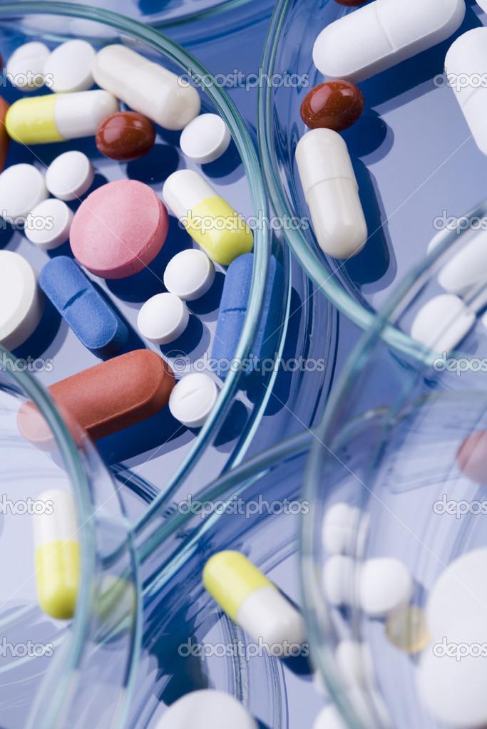 Drugs, medicines, tablets, pills — Stock Photo © JanPietruszka #30814081