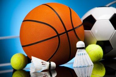 Sports balls, a lot of balls and stuff