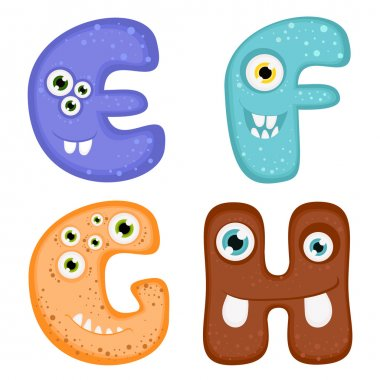 Funny Toothy Monster Alphabet