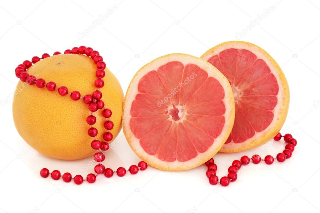 ruby red grapefruit u2014 stock photo