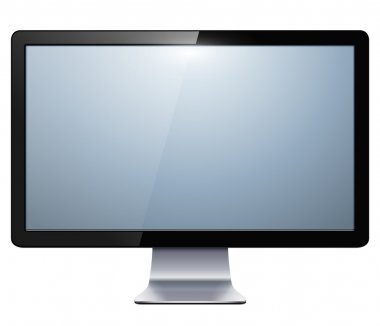 Lcd tv monitor isolated, vector illustration. stock vector