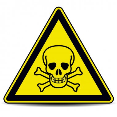 Skull danger sign, symbol. stock vector