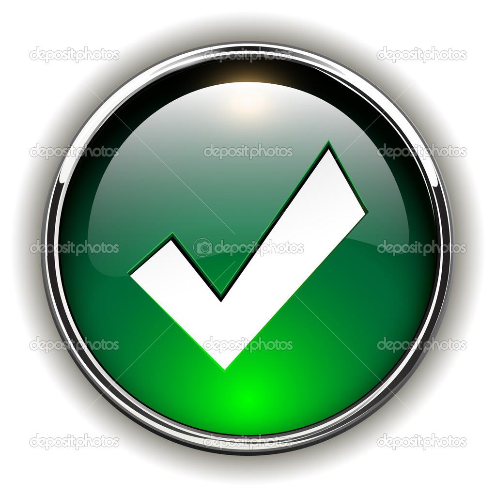Aceptar icono bot n vector de stock cobalt88 24012035 for Icono boton