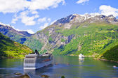 Photo Cruise ship in Norwegian fjords