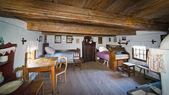 uvnitř starých venkovských domů v Polsko XIX století