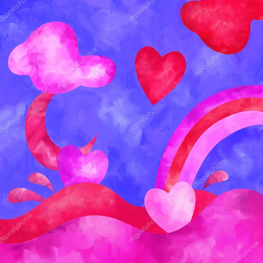 Symbols of love stock photo goccedicolore 33529553 abstract background with symbols of love photo by goccedicolore biocorpaavc