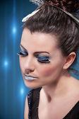 Fotografie Luxusní stříbrné make-up