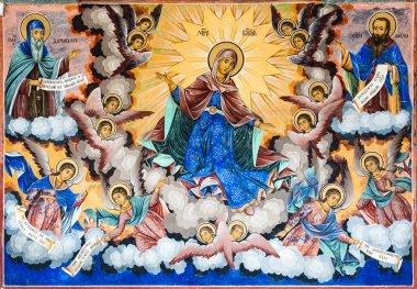 """Картина, постер, плакат, фотообои """"Фреска Девы Марии"""", артикул 14829567"""