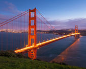 Fotografia Golden gate bridge al tramonto