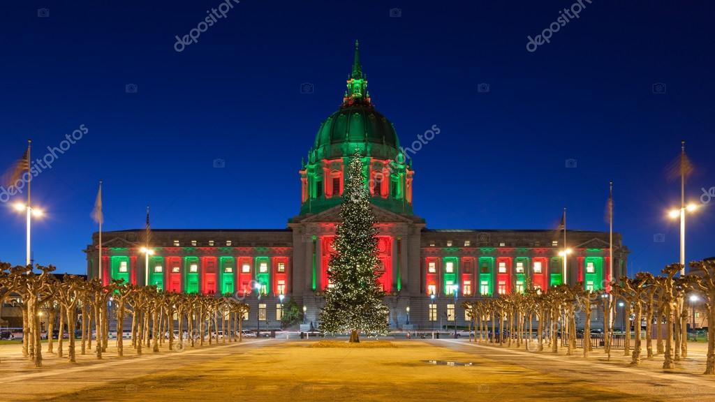 San Francisco City Hall in der Weihnachtszeit — Stockfoto © nstanev ...