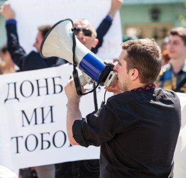 Anti Putin meeting in support of Ukraine's unity