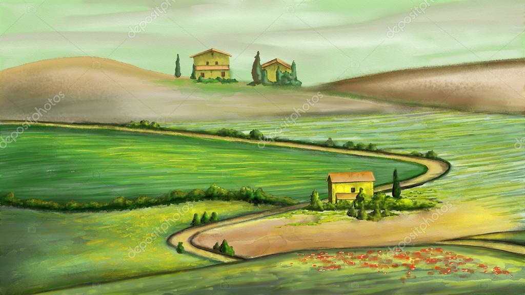 Rural landscape in Tuscany, Italy