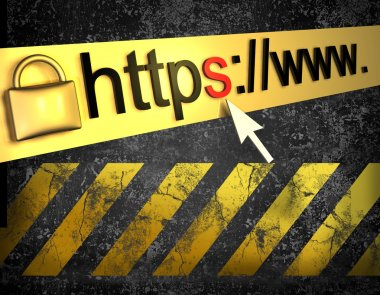 https protected web page with grunge background