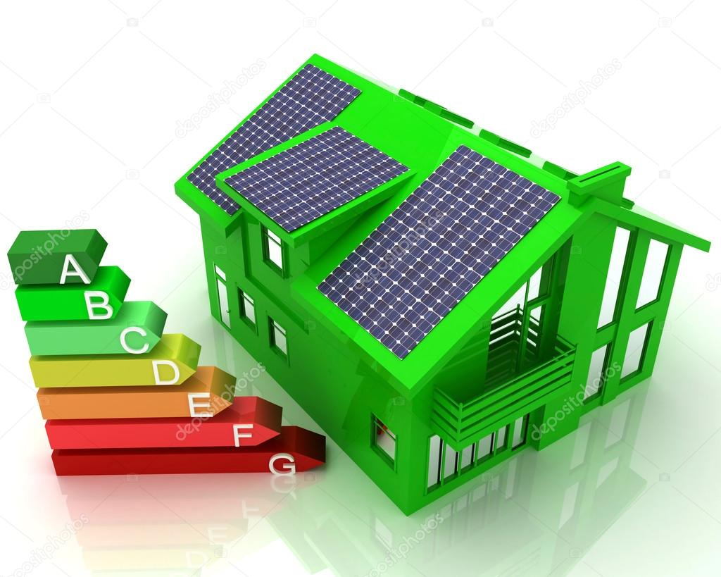 House energy saving concept