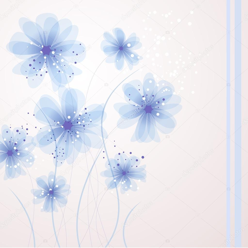 Vector background with soft flowers