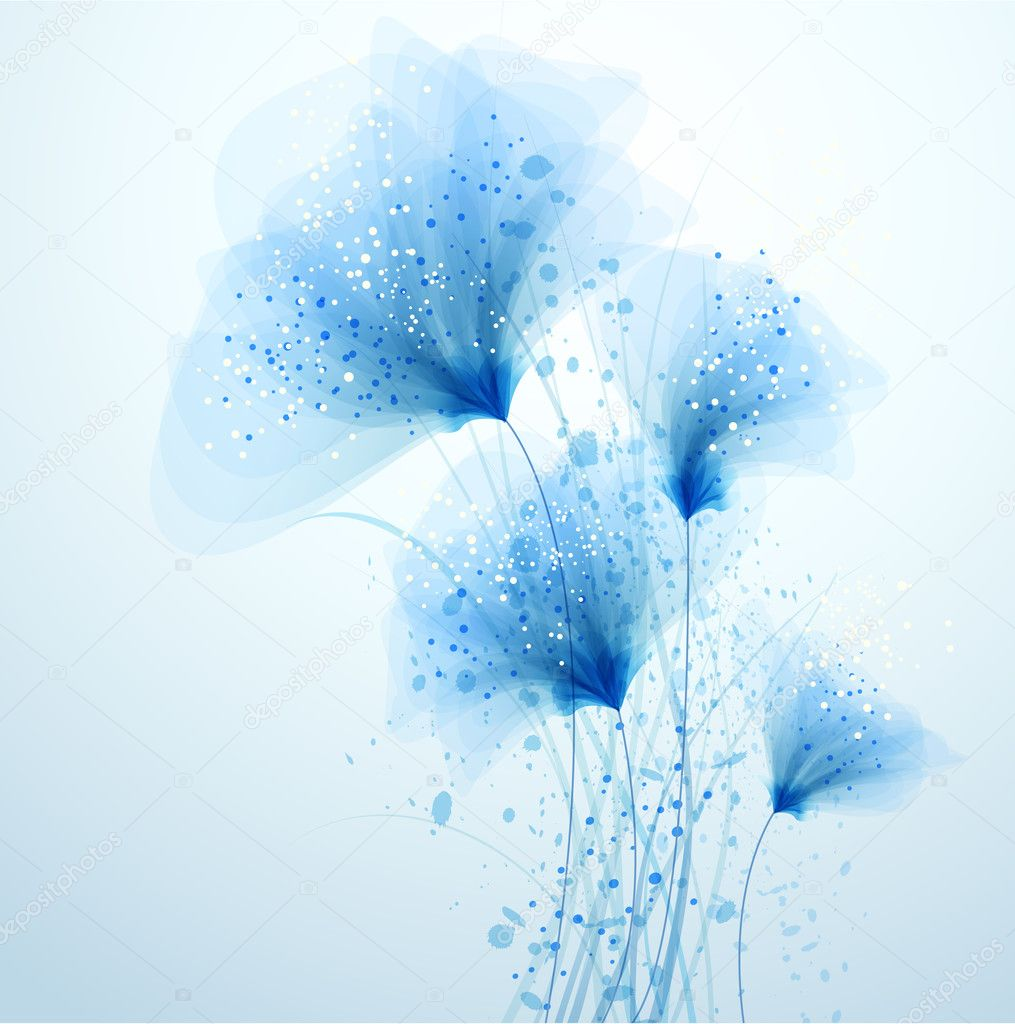 vector background with Flower 80