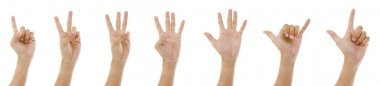 Hand sign 1 to 7