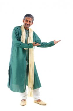 Indian male in dhoti dress