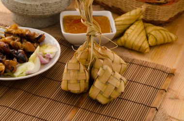 Ketupat: South East Asian rice cakes bundle, often prepared for