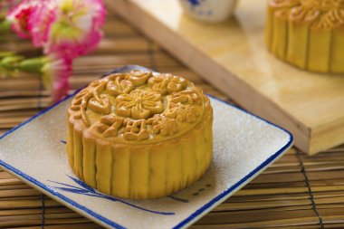 Mooncake for Chinese mid autumn festival foods