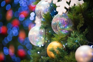 christmas tree decorations and background