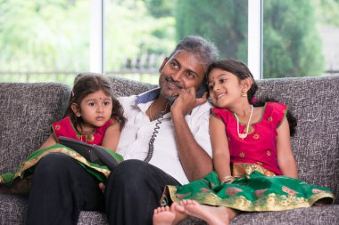 Father with his daughters