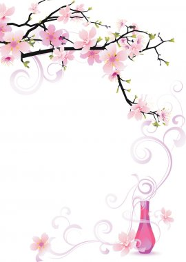 Sakura aroma violet vector