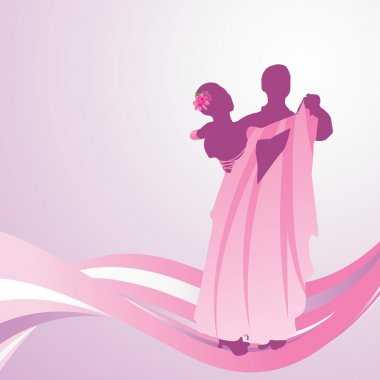 pink dress dancing couple