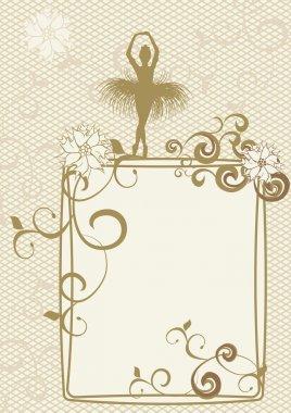 gold ballerina frame