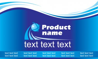 banner with name of your product