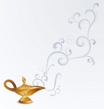 Magic old arabian oil lamp