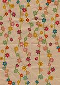 Fotografie Blumen Illustraton alte texturierten Papier gelb färben