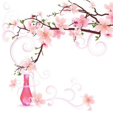 Vector sakura or cherry tree