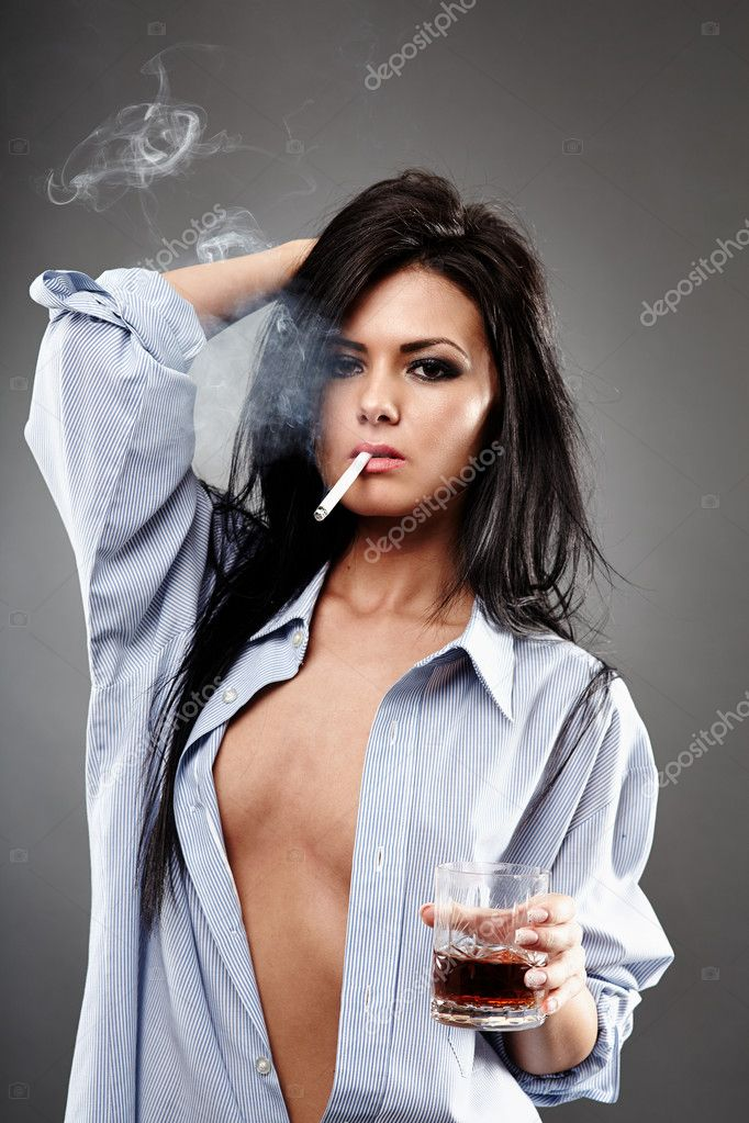 Sexy Girl Smoking Cigar Stock Photos - Royalty Free Images
