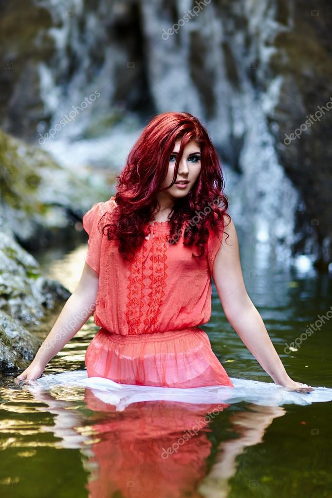 Rotschopf Im Wald