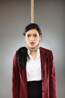 Businesswoman hanged