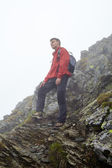 Fotografie dospívající turista na horských
