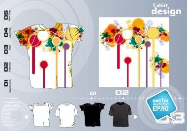T shirt design. vector