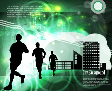 City sport. Runner. Vector
