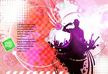 Dancing . Vector