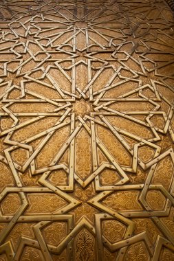 Golden gate of the Royal Palace in Fes, Morocco